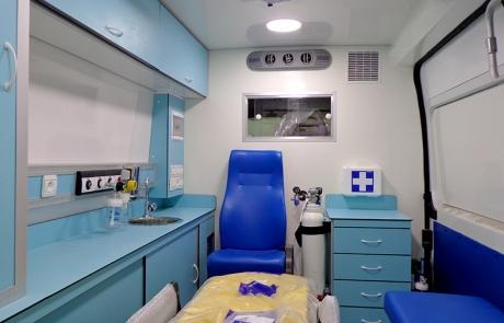 Ambulance Médicalisée sur Fourgon Type Fiat Ducato
