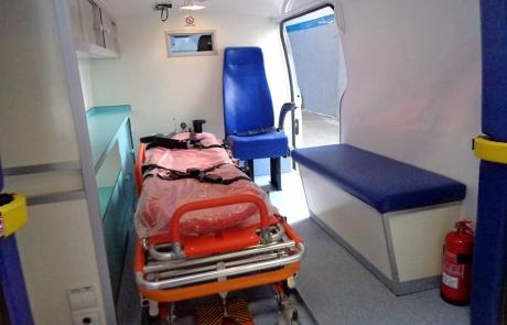 Ambulance Médicalisée sur Fourgon Type Ford