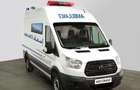 Ambulance Médicalisée sur Fourgon Type Ford L2H2