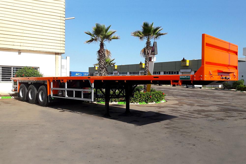 Semi-remorque porte conteneurs longueur 13.6